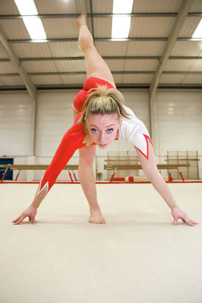 Agile Photograph - Gymnast Balancing by Gustoimages/science Photo Library