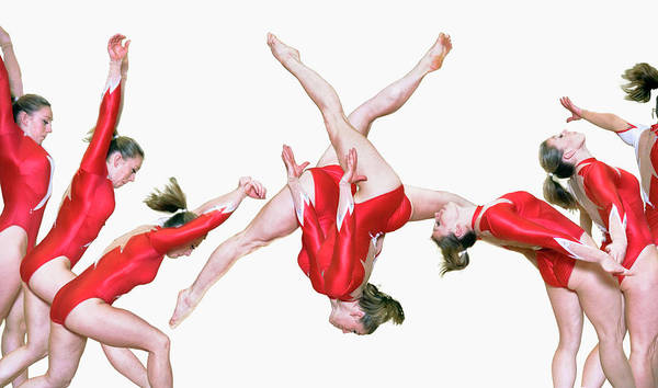 Gymnast Wall Art - Photograph - Gymnast Performing A Free Walkover by Gustoimages/science Photo Library
