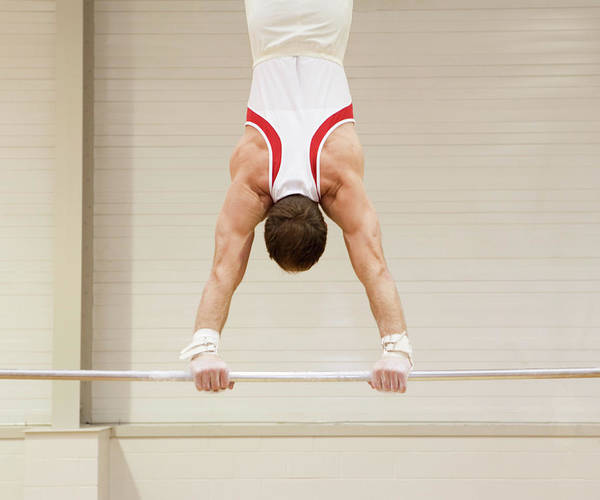Agile Photograph - Gymnast Performing A Handstand by Gustoimages/science Photo Library