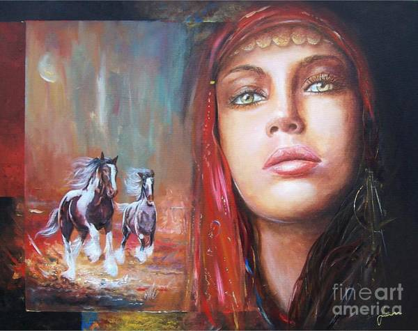 Painting - Gypsy Beauty by Sinisa Saratlic