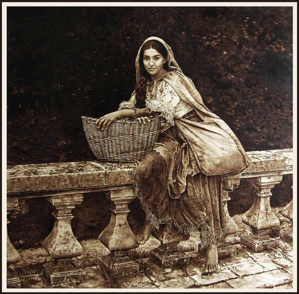 Pirografia Wall Art - Pyrography - Gypsy Queen by Dino Muradian