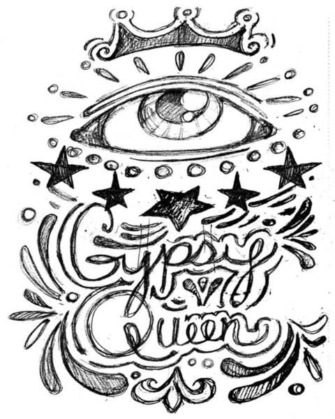 Drawing - Gypsy Queen  by Nada Meeks
