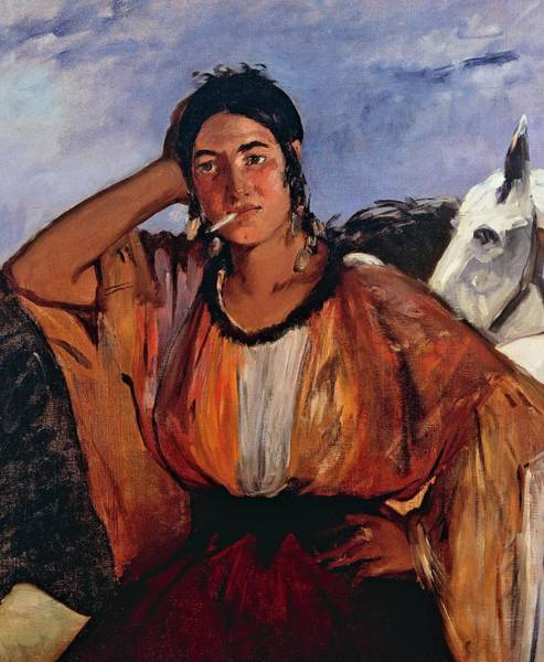 Confident Painting - Gypsy With Cigarette by Edouard Manet