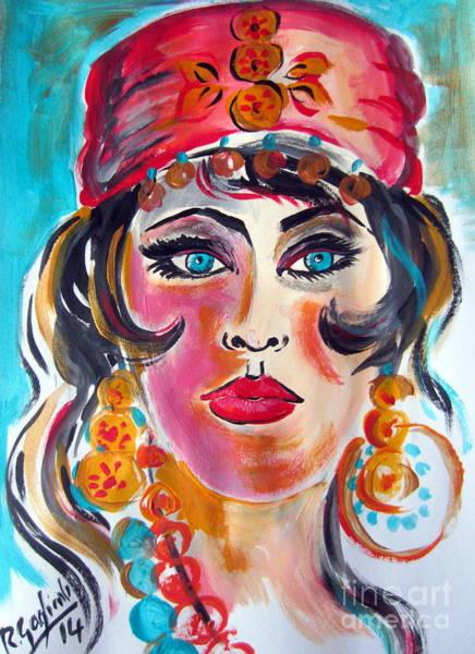Gitana Wall Art - Painting - Gypsy Woman by Roberto Gagliardi
