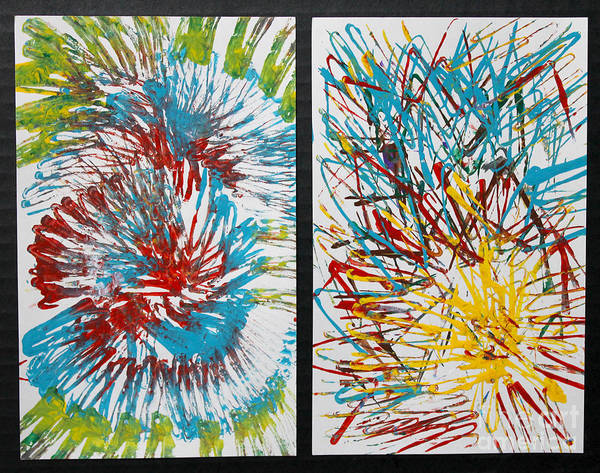 Painting - Gyration Diptych by Anne Cameron Cutri