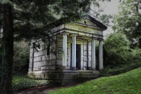 Graveyard Wall Art - Photograph - H C Ford Mausoleum by Tom Mc Nemar