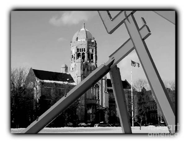 Muhlenberg Photograph - Haas And Victors Lament - Border - Bw by Jacqueline M Lewis