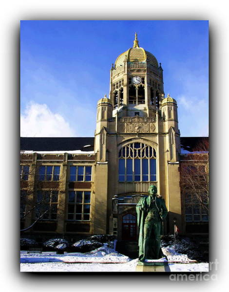 Muhlenberg Photograph - Haas College Center - Border by Jacqueline M Lewis