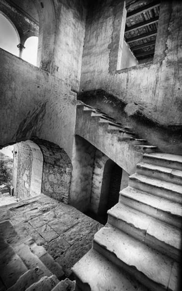 Photograph - Hacienda Stairwell by Barry Weiss
