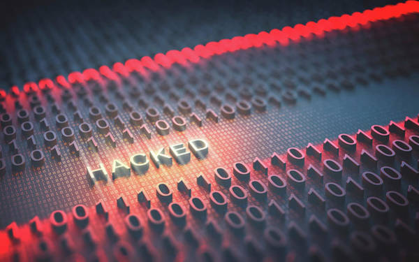 Photograph - Hacked Binary Code by Ktsdesign/science Photo Library