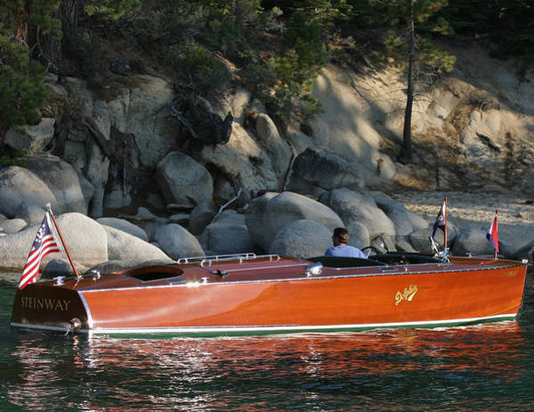Photograph - Hacker Dophin Runabout by Steven Lapkin