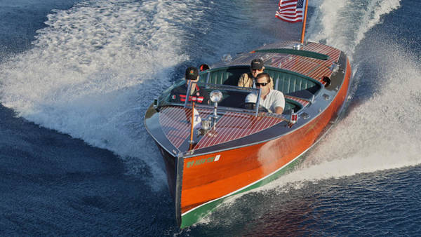 Photograph - Hackercraft Runabout On Lake Tahoe by Steven Lapkin