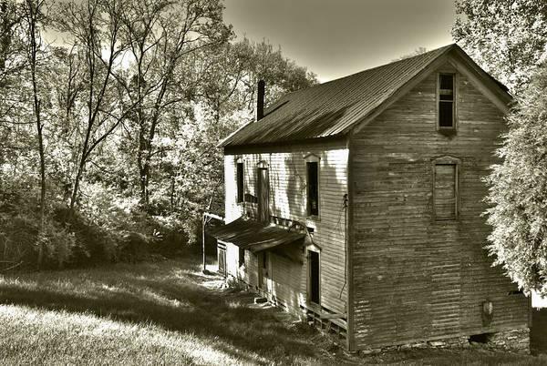 Photograph - Hackney Mill Sepia by Carol Erikson