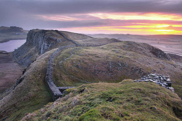 Hadrians Wall Photograph - Hadrians Sunrise by Graeme Campbell Photography