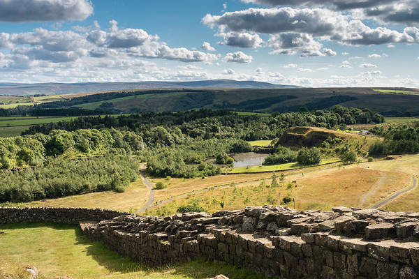 Greenhead Photograph - Hadrians Wall Above Old Quarry by David Head