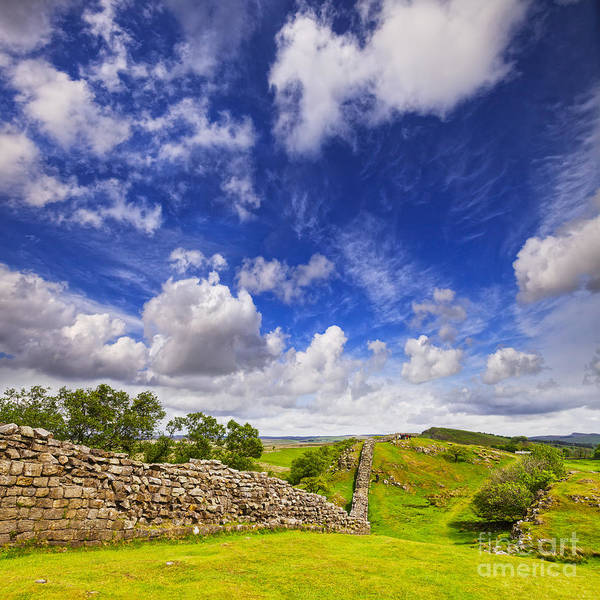 Hadrians Wall Photograph - Hadrians Wall At Walltown Crags by Colin and Linda McKie
