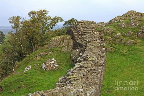 Hadrians Wall Photograph - Hadrian's Wall Near Walltown Quarry by Louise Heusinkveld
