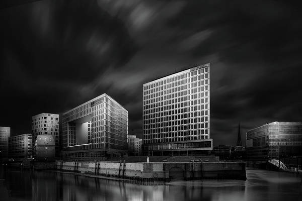 Modern Architecture Photograph - Hafencity And Spiegel Office Building by Matthias Hefner
