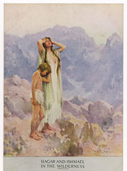 Wall Art - Drawing - Hagar, A Servant, Having Borne  A Son by Mary Evans Picture Library