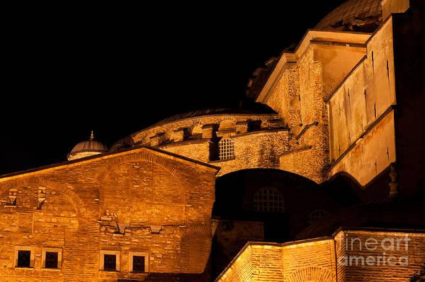 Sancta Sophia Photograph - Hagia Sophia At Night by Rick Piper Photography