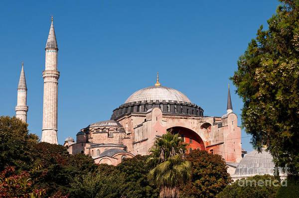 Sancta Sophia Photograph - Hagia Sophia Blue Sky 01 by Rick Piper Photography