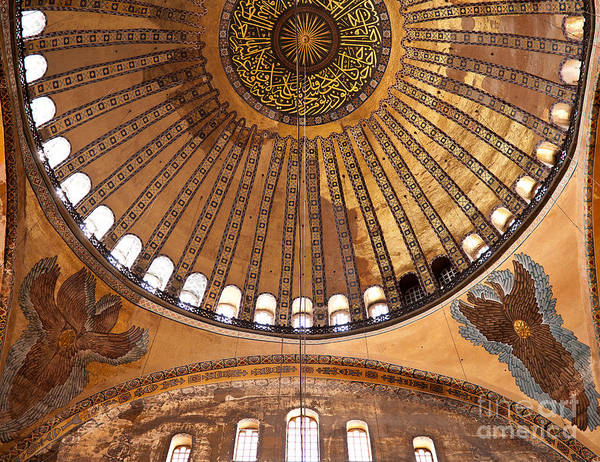 Sancta Sophia Photograph - Hagia Sophia Dome 02 by Rick Piper Photography