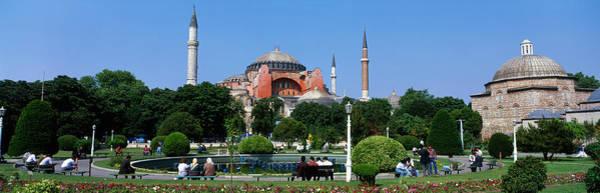 Minarets Photograph - Hagia Sophia, Istanbul, Turkey by Panoramic Images
