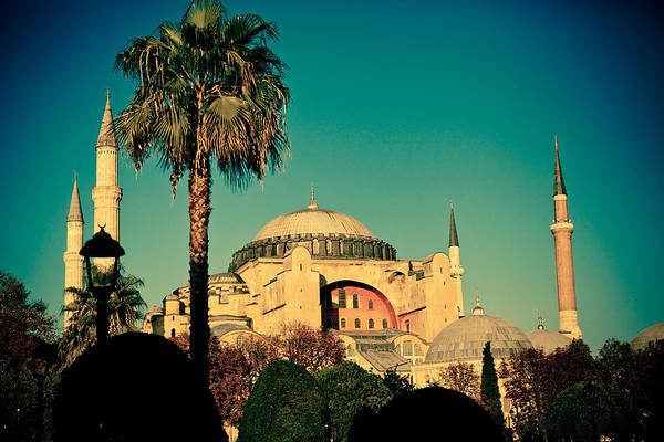 Photograph - Hagia Sophia View With Palm by Raimond Klavins