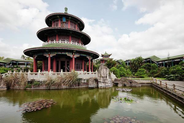 Chinese Pavilion Photograph - Hai Rui Tomb, Haikou, China by Tunart