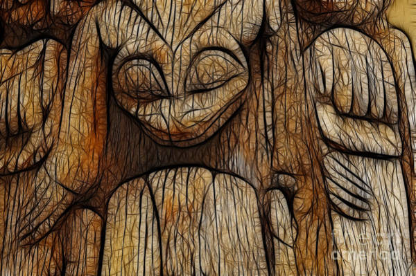 Queen Charlotte Islands Wall Art - Photograph - Haida Totem by Bob Christopher