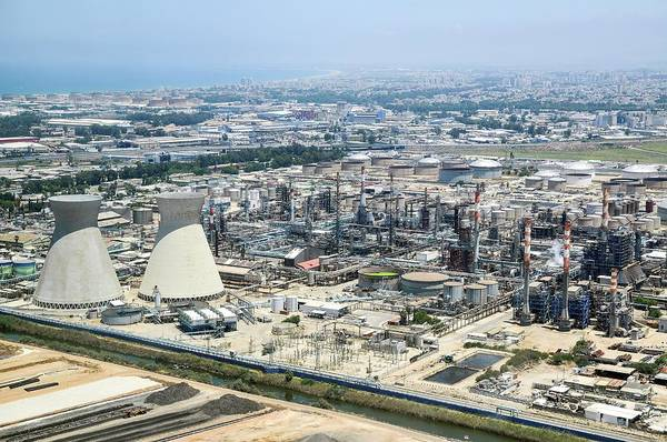 Pollution Photograph - Haifa Industrial Zone by Photostock-israel