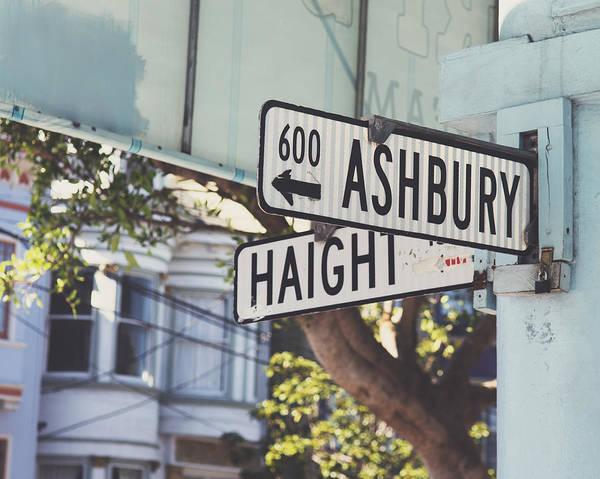 Street Sign Photograph - Haight Ashbury by Nastasia Cook