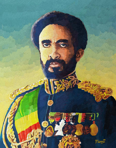 Crown Imperial Painting - Haile Selassie by Anthony Mwangi