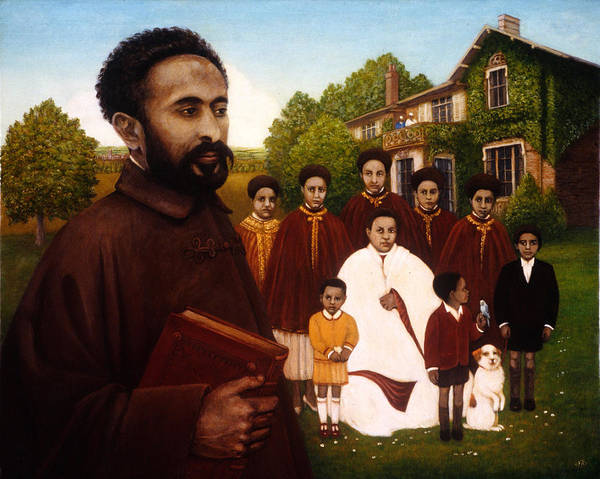 Fairfield Photograph - Haile Selassie In Exile, 1987 Oil And Tempera On Panel by Frances Broomfield