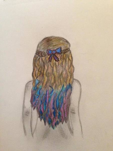 Hairdo Drawing - Hair by Oasis Tone