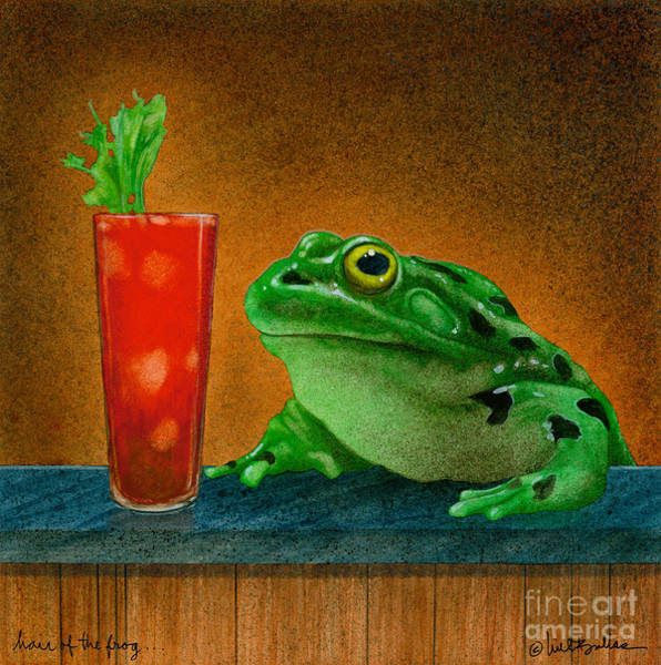 Hair Of The Dog Wall Art - Painting - Hair Of The Frog... by Will Bullas