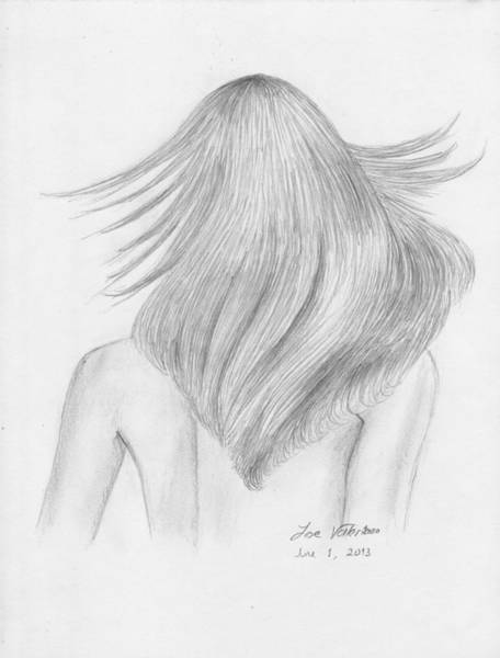 Drawing - Hair Study by M Valeriano