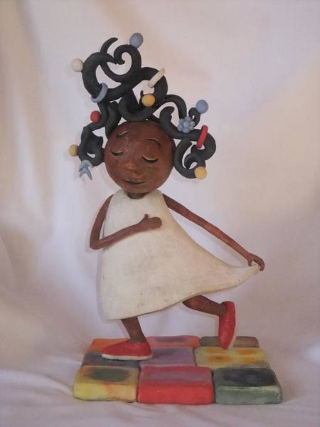 Wall Art - Sculpture - Hair To Take The Gloom Away by Ann Meany