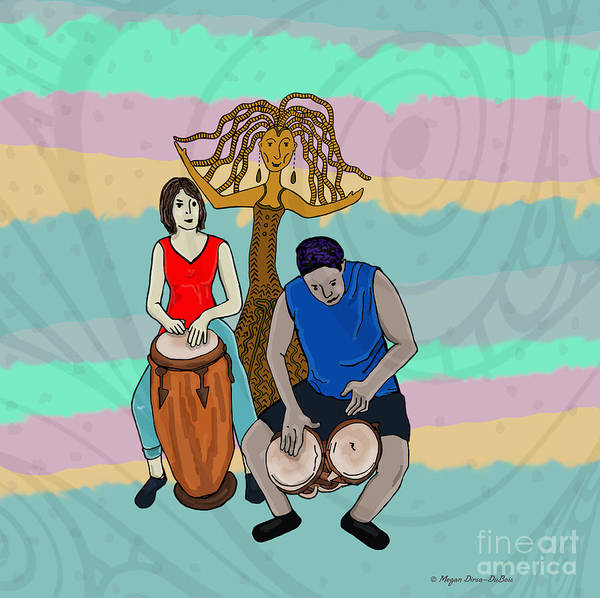 Digital Art - Haitian Drum Spirit by Megan Dirsa-DuBois