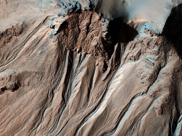 Sombrero Painting - Hale Crater In Mars by Celestial Images