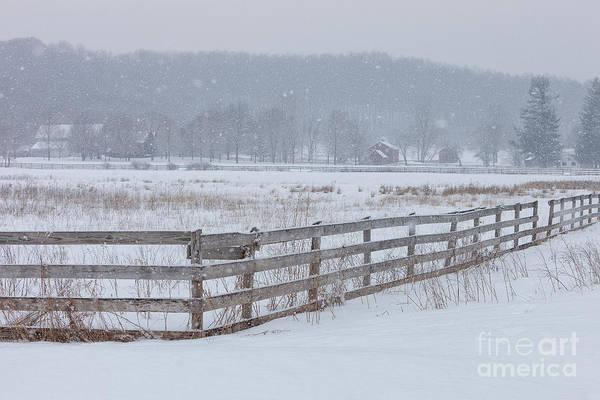 Photograph - Hale Farm At Winter by Joshua Clark