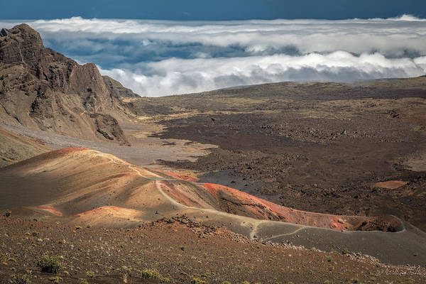 Haleakala Crater Photograph - Haleakala Caldera Looking Down At The by William Toti