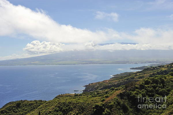 Wall Art - Photograph - Haleakala Volcano And Coastline by Sami Sarkis