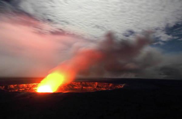 Big Island Photograph - Halemaumau Crater, Kilauea Caldera by Steven Greaves