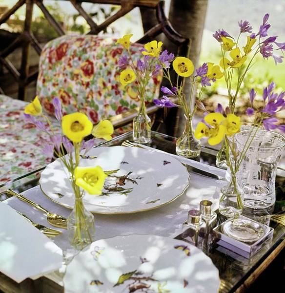 Sonoma Photograph - Hale's Outdoor Dining Table by Horst P. Horst