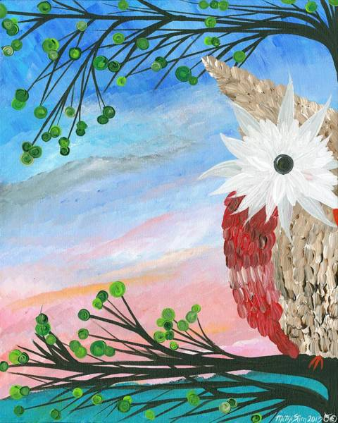 Painting - Half-a-hoot 03 by MiMi  Stirn