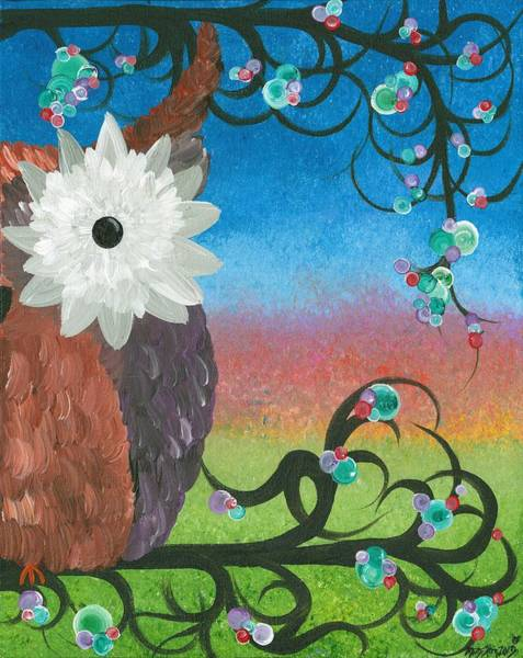 Painting - Half-a-hoot 04 by MiMi  Stirn