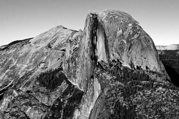 Photograph - Half Dome - Black And White by Peter Tellone