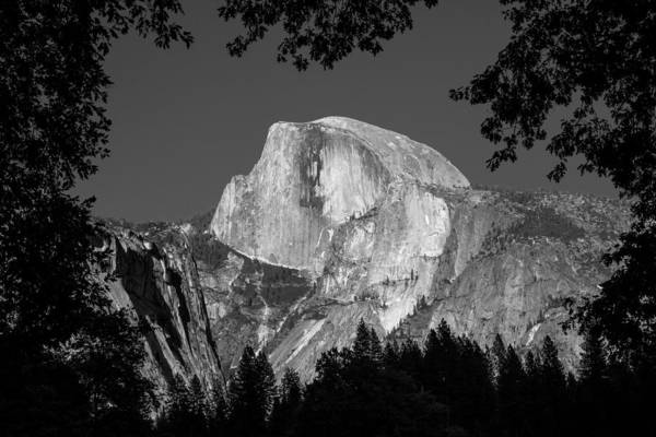 Photograph - Half Dome Black And White by Pierre Leclerc Photography