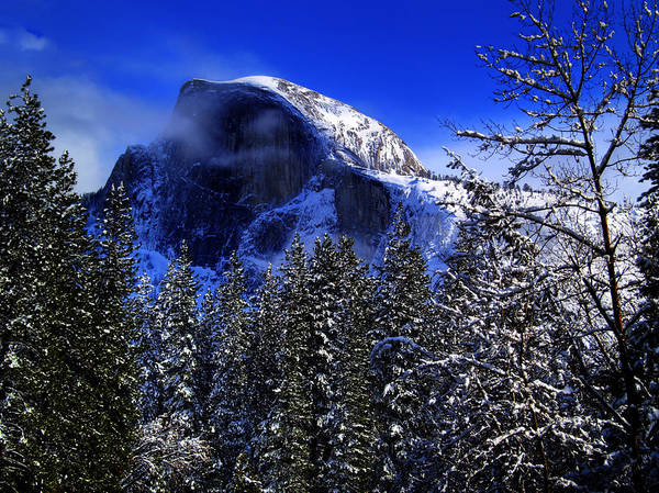Dome Peak Photograph - Half Dome Clearing by Bill Gallagher